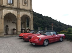 Alfa Romeo cars at the ready