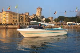 Sirmione, Castle and motor launch