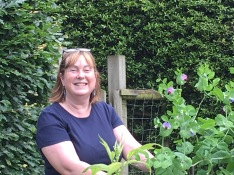 Louise at work in the veggie patch