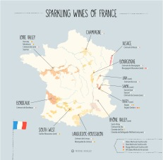 Champagne is located north-east of Paris