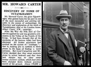 Howard Carter's obituary