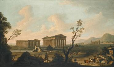 18th Century water colour - Temples of Paestum