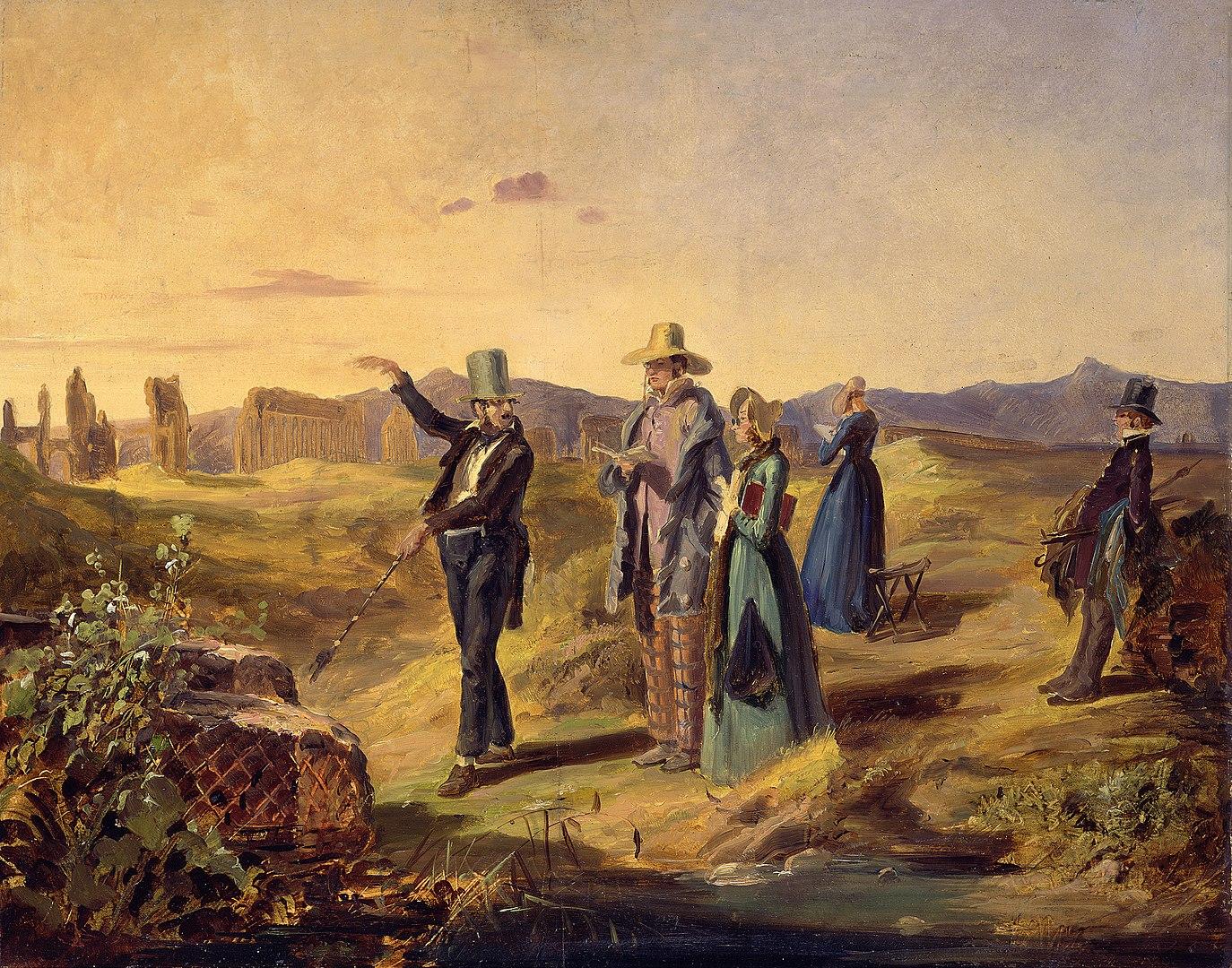 Artist - Carl Spitzweg - English Tourists in the 'Campagna' c. 1835