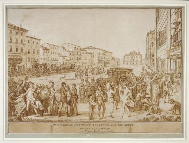 GT - Arrival of young traveller Piazza di Spagna (David Allen)