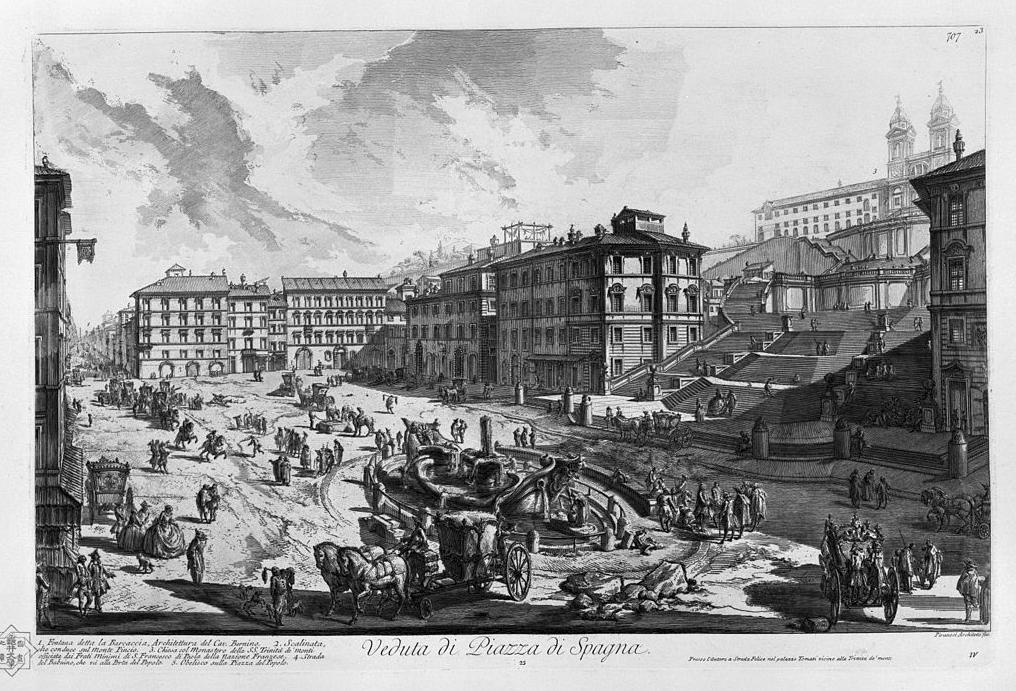 GT - Veduta, Piazza di Spagna - Piranesi