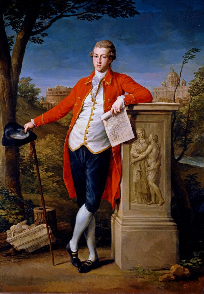 Typical young aristocrat Francis Basset painted by Pompeo Batoni, 1778 - whilst on the Grand Tour
