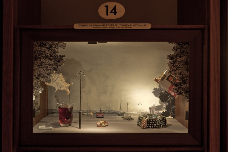 Display cabinet from the Museum of Innocence, Istanbul - on display at Museo Bagatti Valsecchi, Jan-Jun, 2018