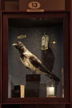 Museum of Innocence, display case - showing half consumed glasses of raki.