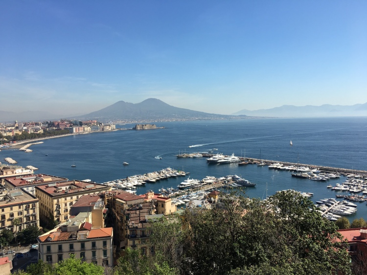 Vesuvius dominates the Bay of Naples