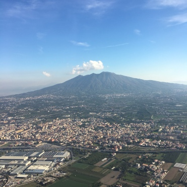 Vesuvius dominates the whole Bay of Naples