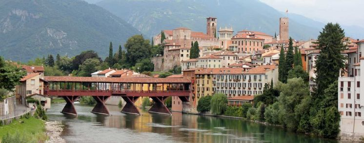 Bassano - famous bridge of the Alpini, across the Brenta River