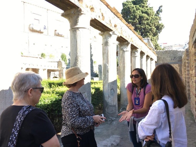 Our wonderful guide - Sara Prossomariti, explains Herculaneum and its history to us!