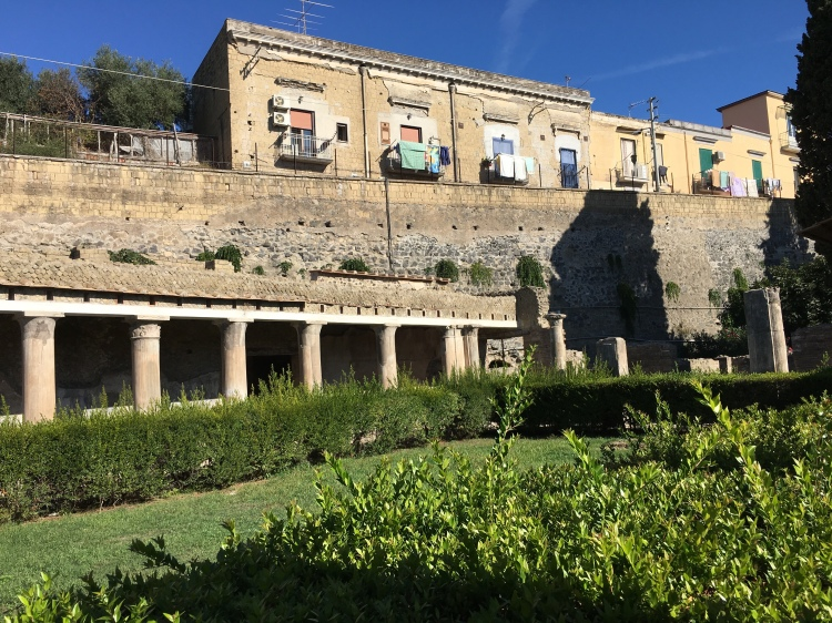 Herculaneum - northern end of site, with modern town above the excavations