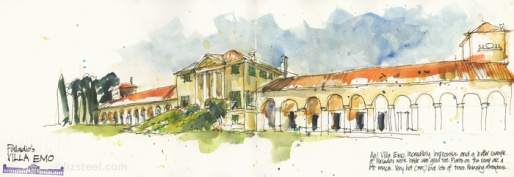 A view of Villa Emo, Fanzolo by Liz Steel