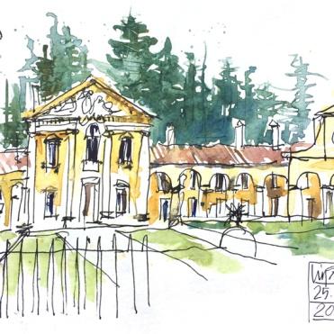 Villa Maser (Barbaro) at Maser, Veneto - by Liz Steel
