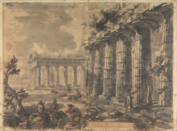 Paestum sketch by Piranesi - John Soane Museum, London