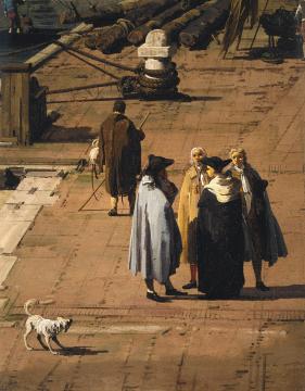Canaletto - Bacino San Marco c. 1735 (detail) - c. Trustees of Sir John Soane Museum