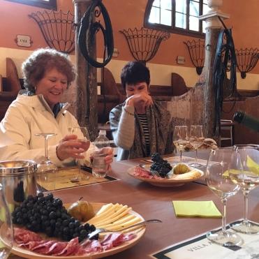 Villa Angarano, wine tasting and nibbles with Belinda Geddes and Barbara Hogan