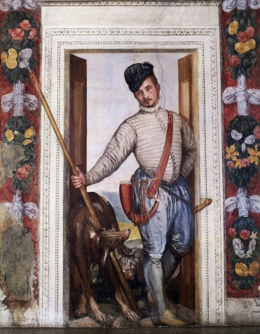 Veronese - fresco detail - Il Birichino - the young hunter www.educated-traveller.com