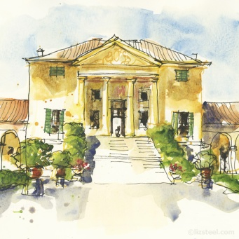 Liz Steel - sketch of Villa Emo, Fanzolo
