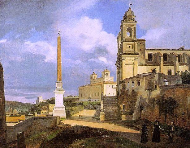 Trinita dei Monti Church, Rome (1808) by Francois Marius Granet