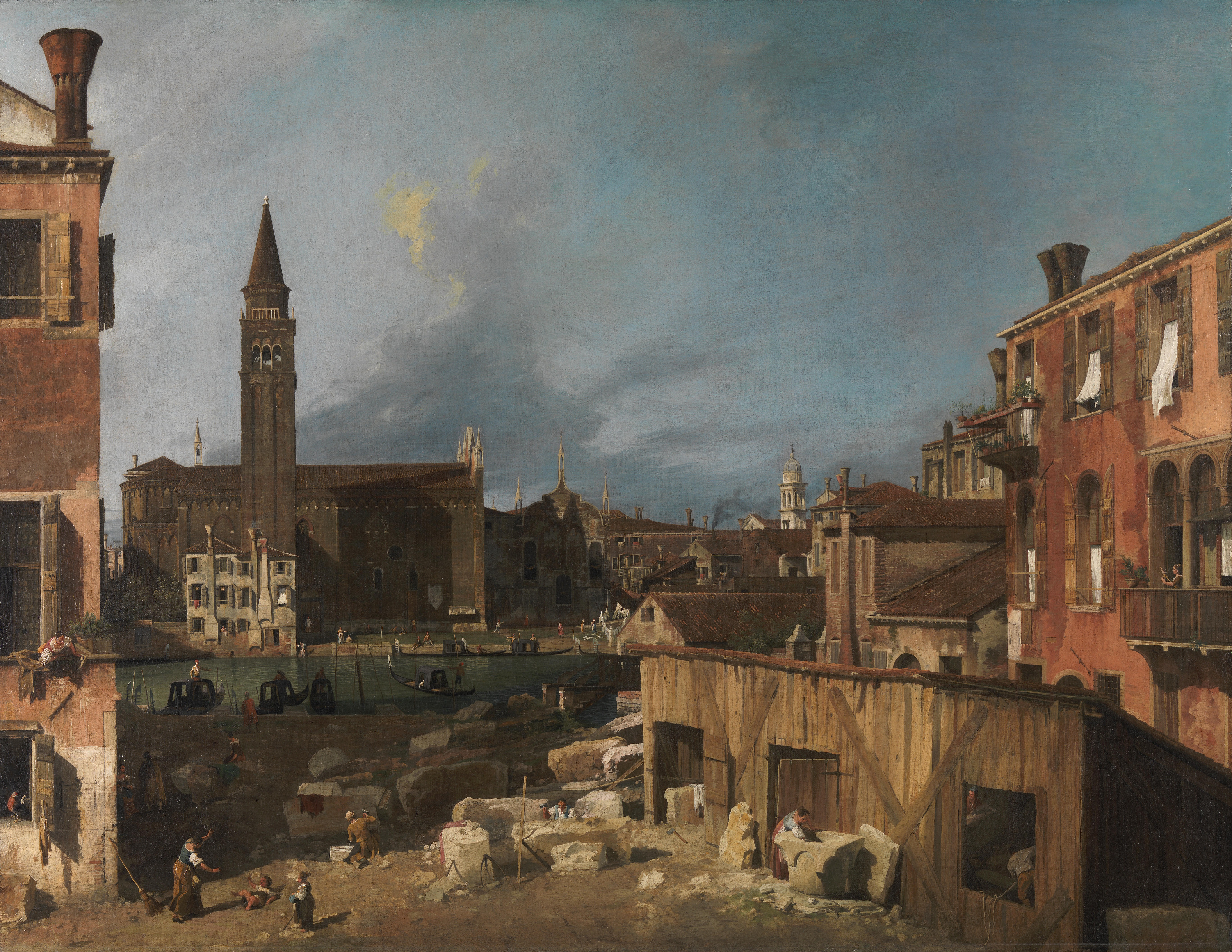 Stonemason's Yard - Courtesy National Gallery, London