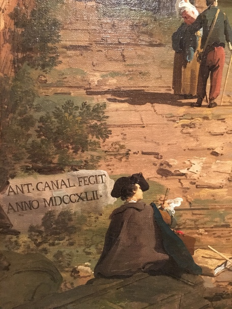 Canaletto - painting of the artist at work!
