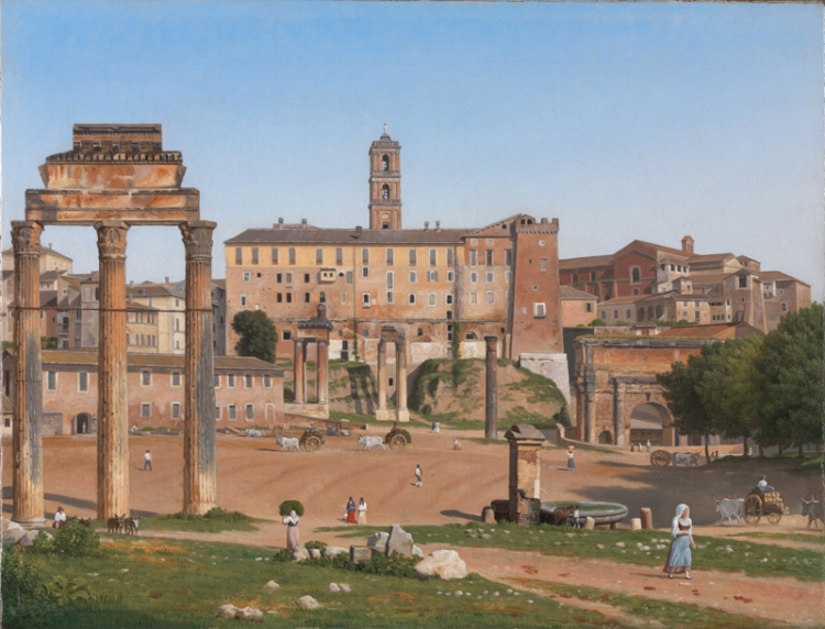 Rome - The Forum, 1814 - CW Eckersberg, National Gallery, London