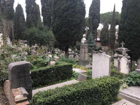 A view of the Protestant Cemetery, Rome