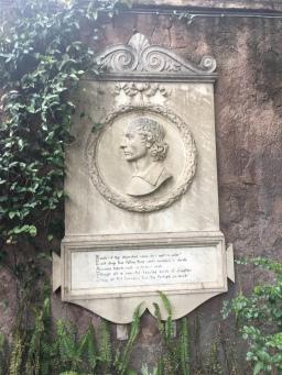John Keat's Memorial Stone, Roma