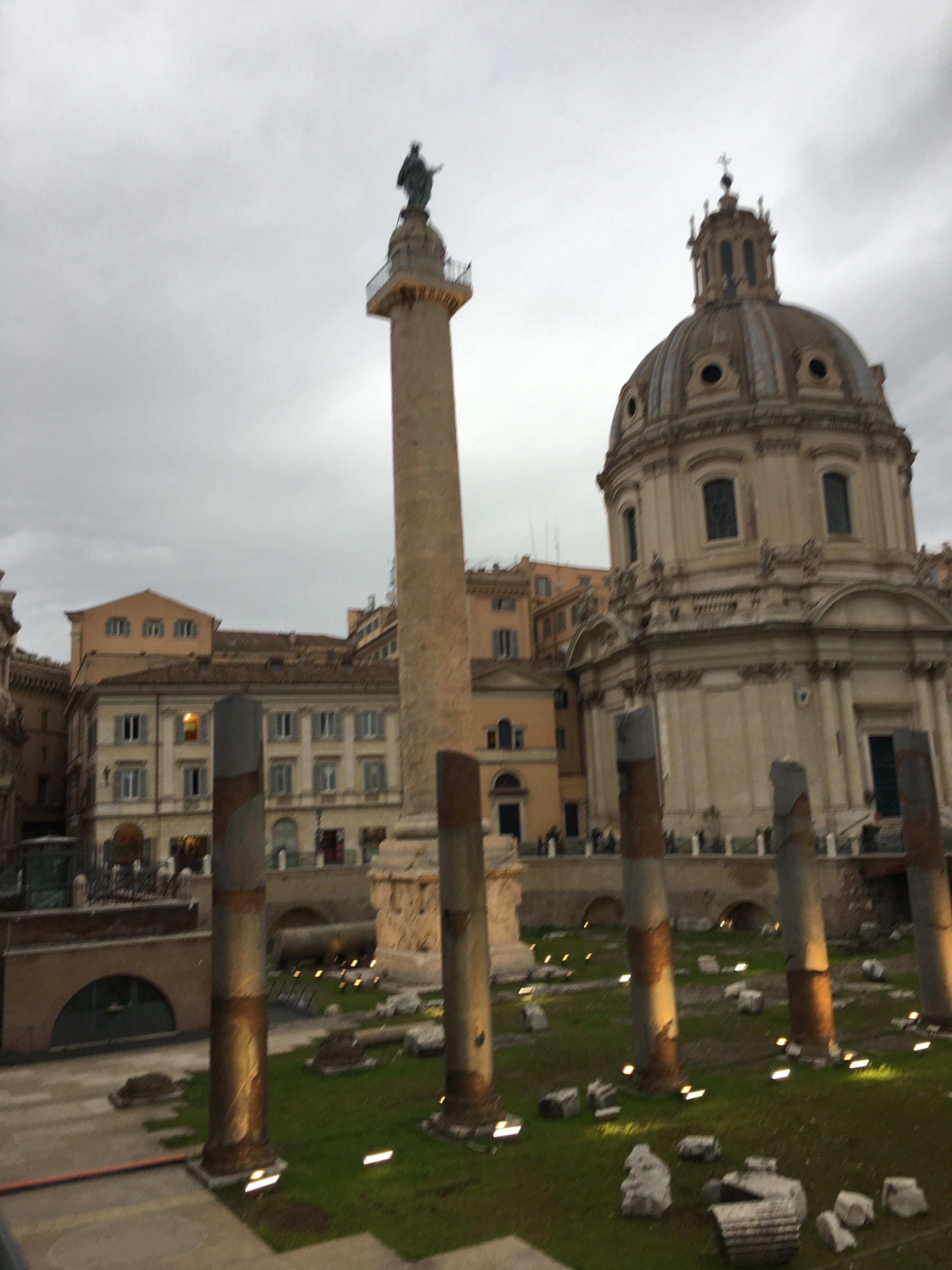 Trajan's Column at Dusk www.educated-traveller.com