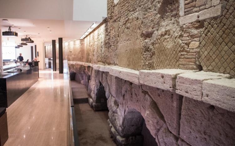 A Roman Aqueduct and stylish coffee bar