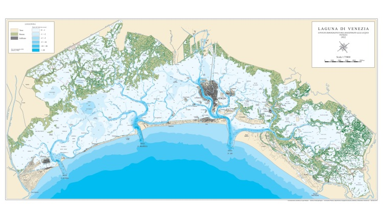 Venezia - lagoon and it's morphology - 1932 www.educated-traveller.com
