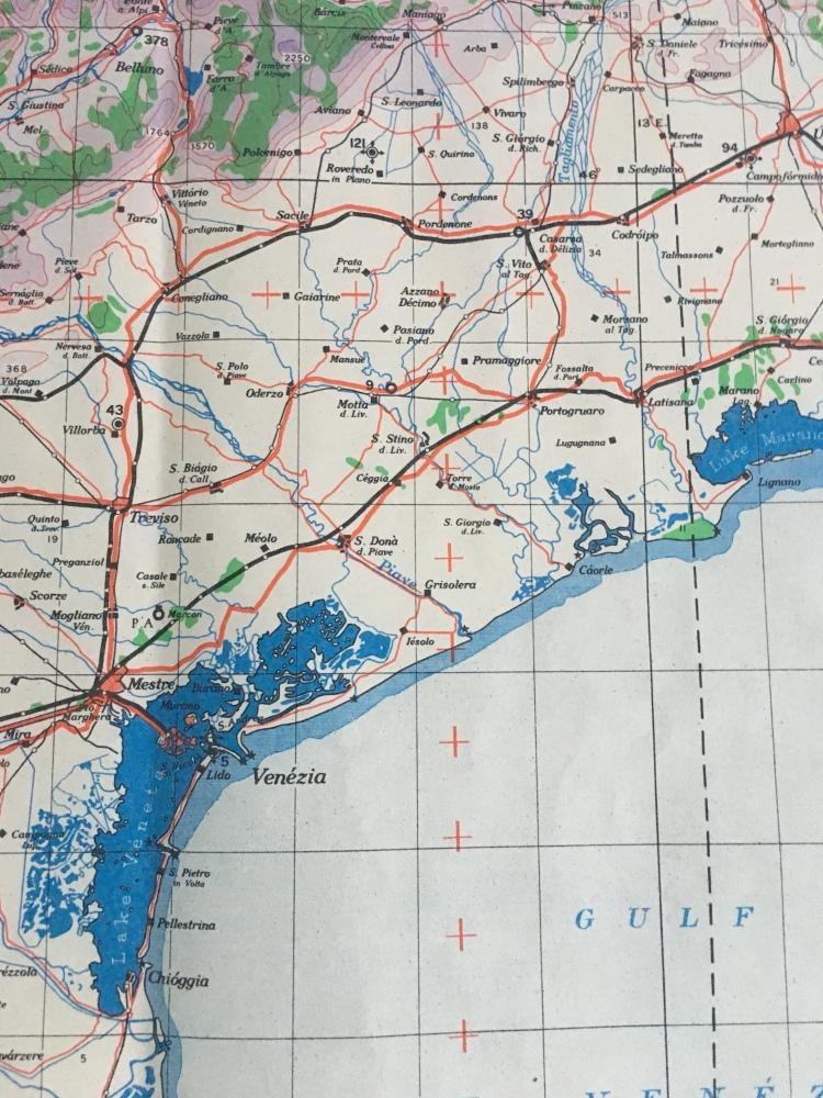 Venezia and Veneto - Ordnance Survey, 1941