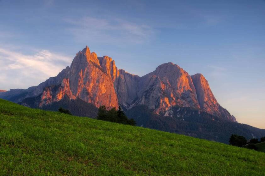 Dolomite Grandeur at sunset