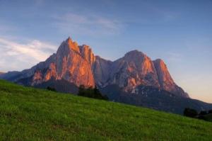 Dolomite Grandeur at sunset
