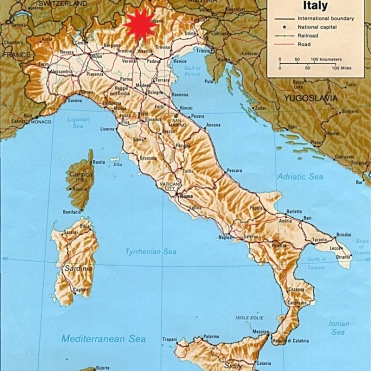 Map Of Italy With Mountains.Dolomite Mountains Italy Map Stadslucht
