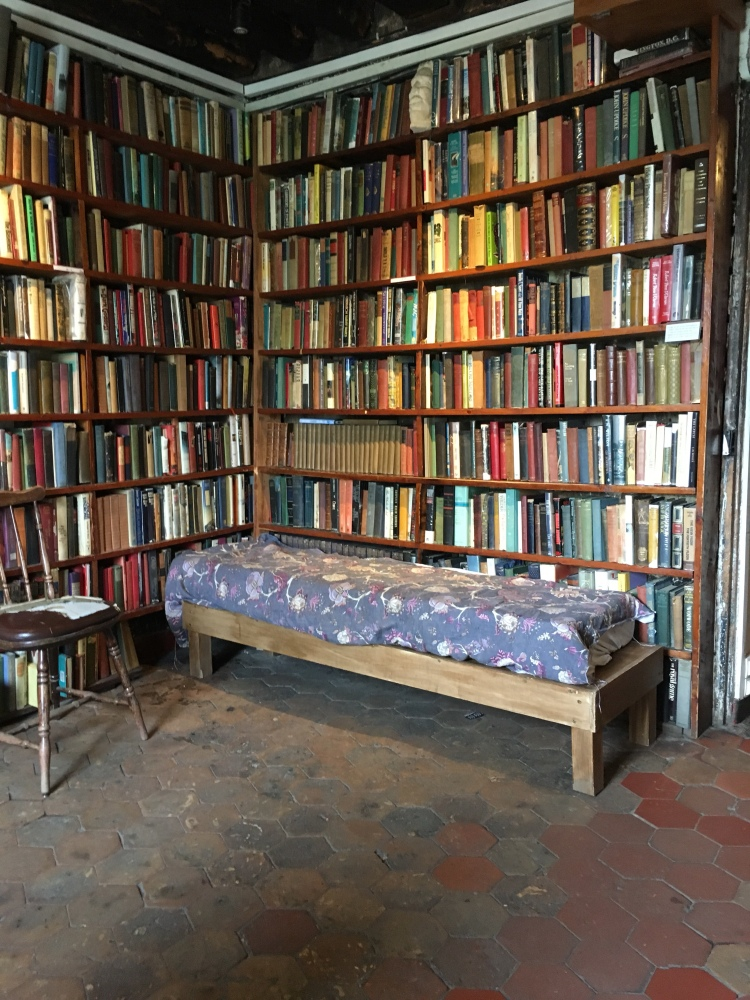 Shakespeare & Co, Paris - visitors can sleep with the books