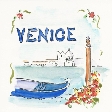 Mary Lou Peter's water colour of Venice