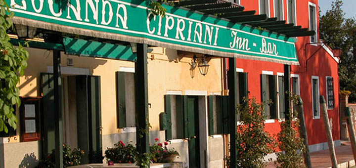 Locanda Cipriani is an institution on the island of Torcello - a favourite of celebrities and VIPs. Hemingway stayed here for a month in the late 1940s and write a book here!