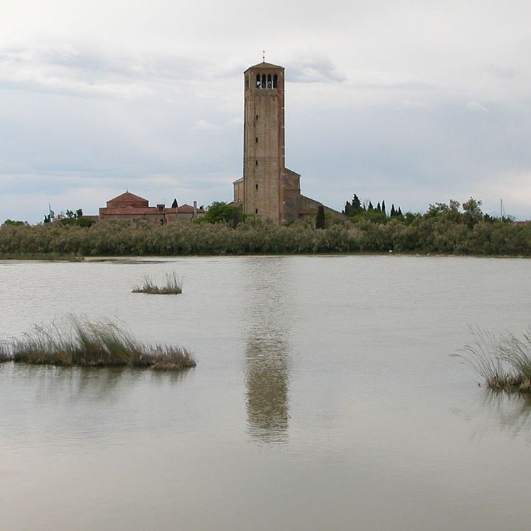 Torcello - bell tower rises out of the marshes of the Venetian lagoon