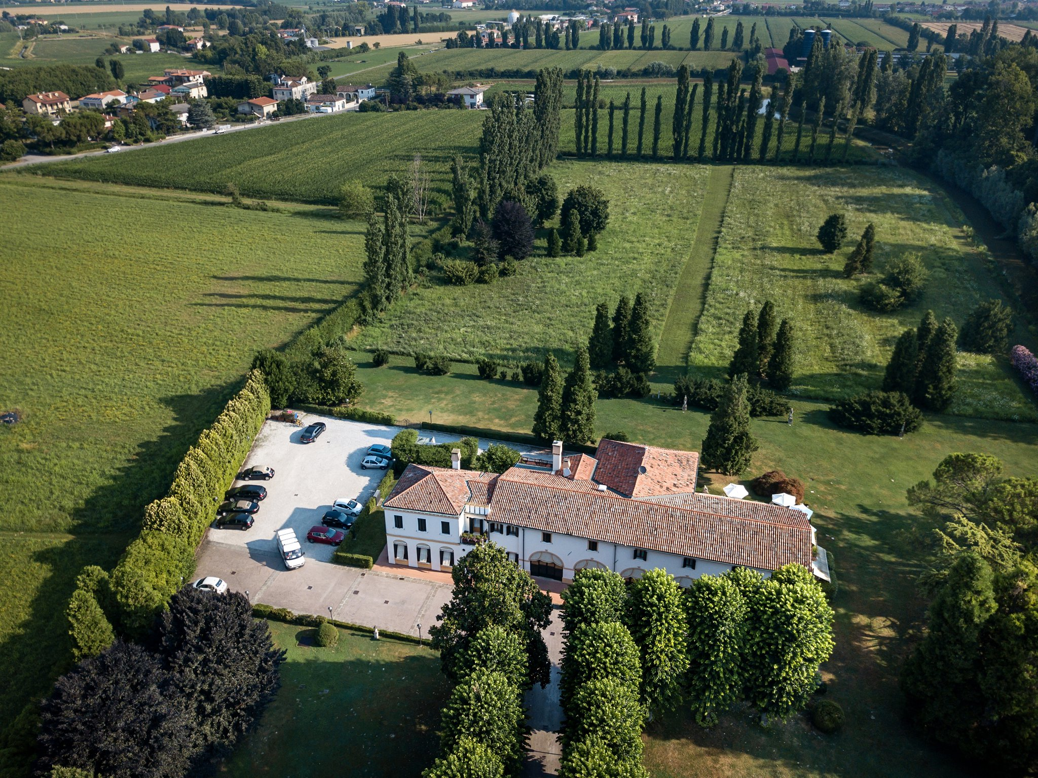 Villa Margherita - aerial view - country house hotel, Veneto - The base for our Writer's Retreat in the glorious Veneto region, 08-15 September, 2019 - https://wp.me/p5eFNn-3DV