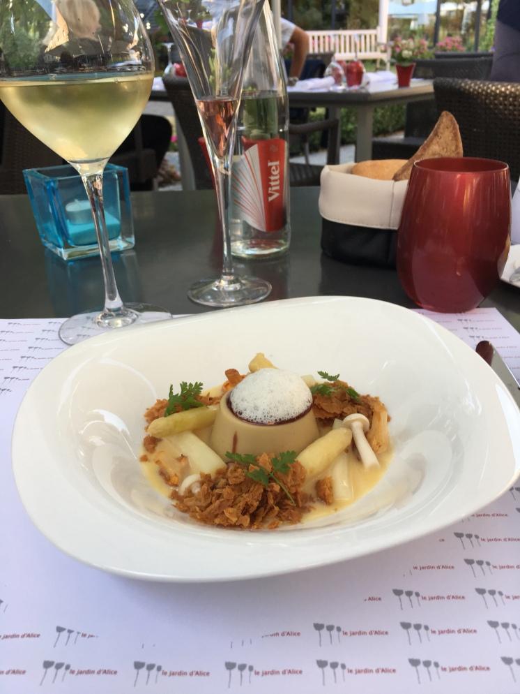 Dinner at Chateau de Beaulieu - delicious foie gras infused mousse