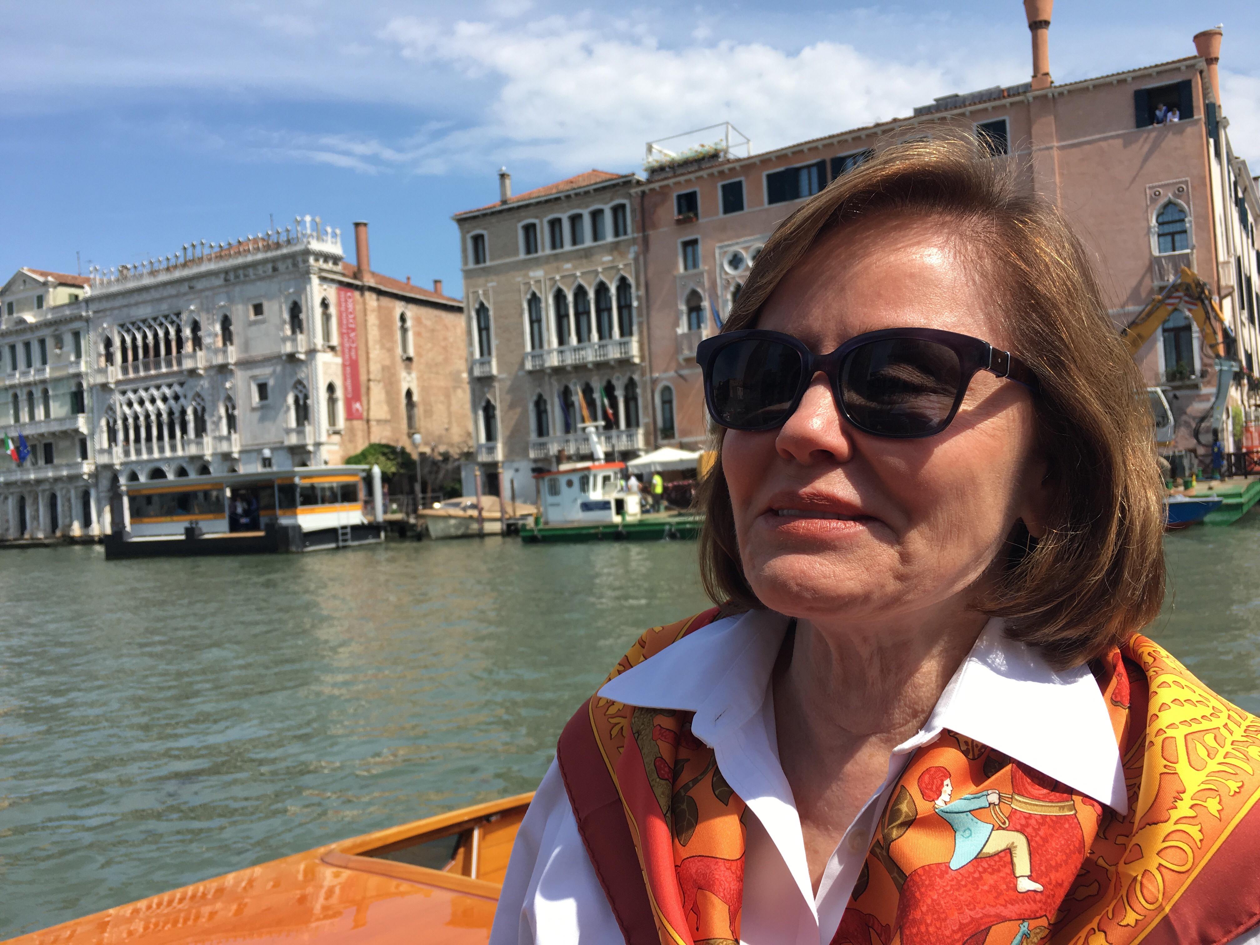 Trudy Dujardin, Grand Canal, Venice - enjoying www.grand-tourist.com experience