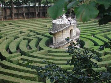The maze at Villa Pisani