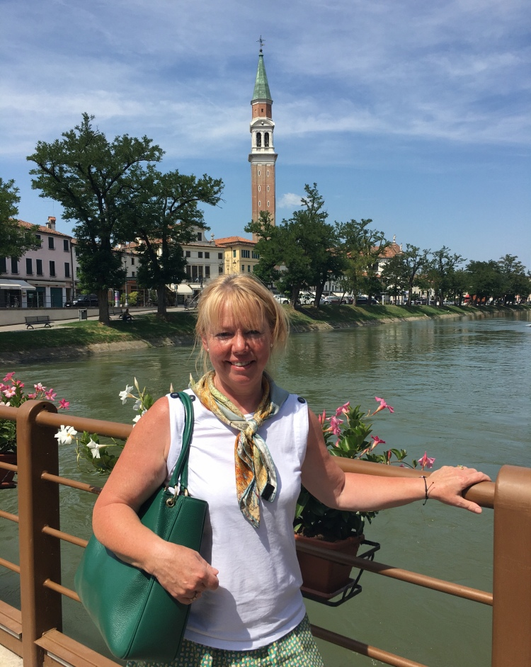 Janet Simmonds - The Educated Traveller at The Molino, Dolo - by the Brenta Canal. August 2018