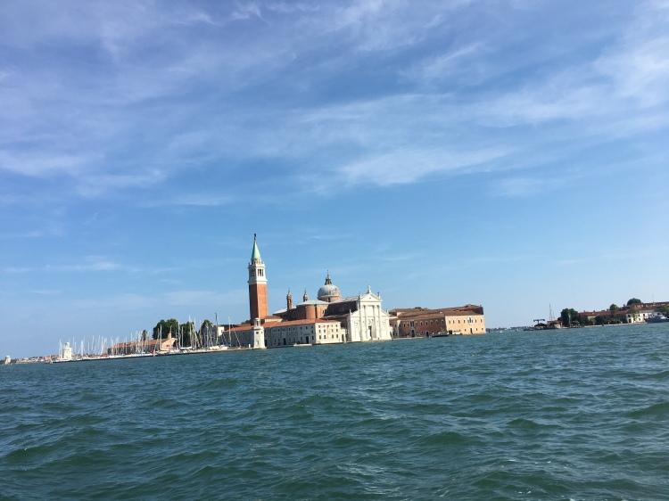 San Giorgio Maggiore from our private boat