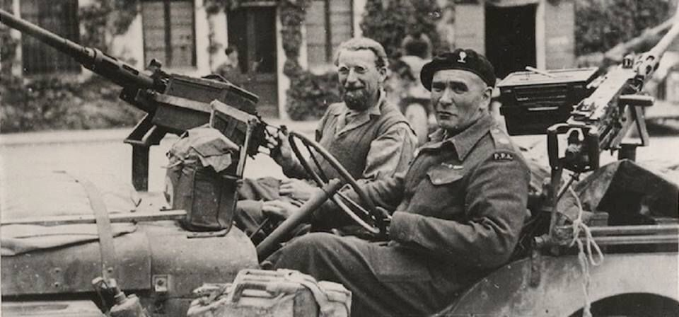 Popski's Private Army made their way north behind enemy lines in the Second World War. Here in Italy.