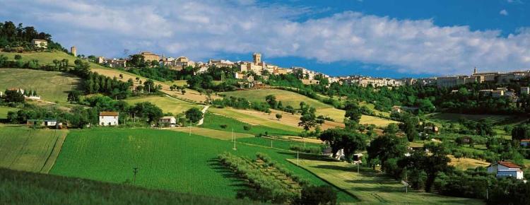 Le Marche, Italy - countryside - L'infinito of Giacomo Leopardi