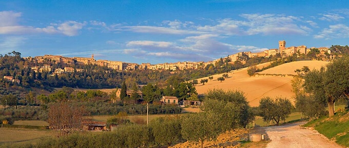 Recanati is a typical, medieval town, in a hilltop location